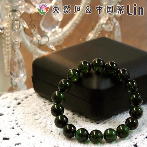 グリーントルマリンブレスレット◆10.5~11mm玉◆