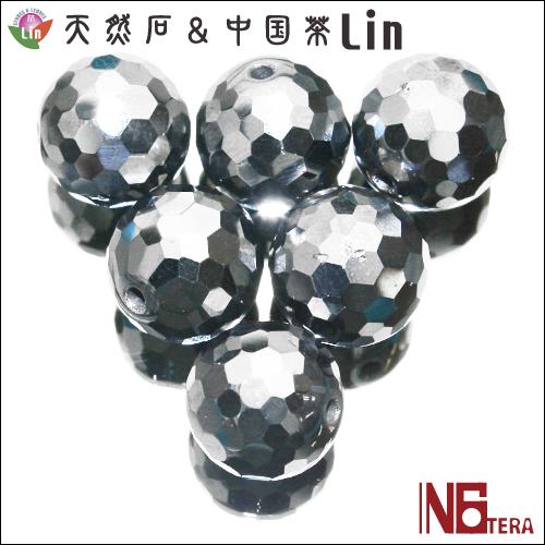 テラヘルツ鉱石ビーズ 12mm玉 ミラーボールカット