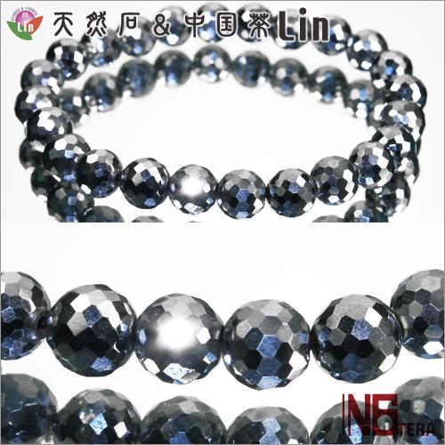 N6tera テラヘルツ鉱石ブレスレット◆ミラーボールカット 8mm玉◆