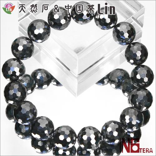 N6tera テラヘルツ鉱石ブレスレット◆ミラーボールカット 12mm玉◆