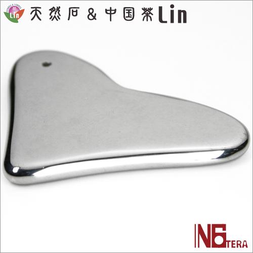 N6tera 高純度テラヘルツ鉱石かっさプレート ハート型◆約54×76×5mm◆
