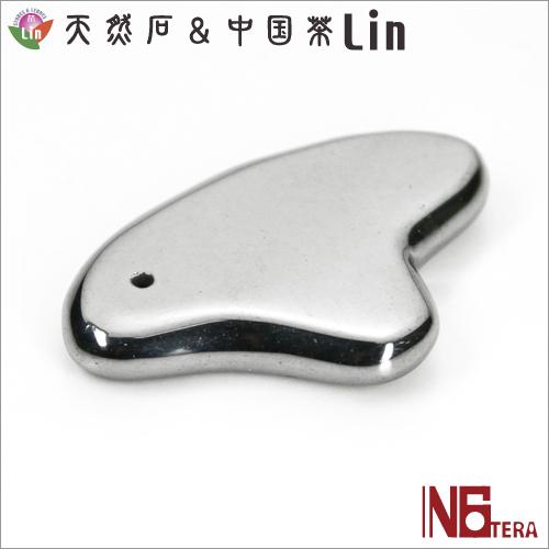 N6tera 高純度テラヘルツ鉱石かっさプレート ハート型◆約29×29×6mm◆