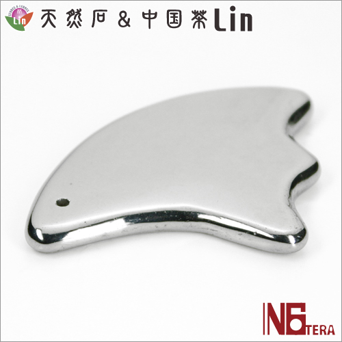 N6tera 高純度テラヘルツ鉱石かっさプレート 羽根型◆約45×44×5mm◆